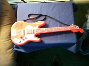 RED-KAWASAKI-TOY-ELECTRIC-GUITAR-VINTAGE-RARE