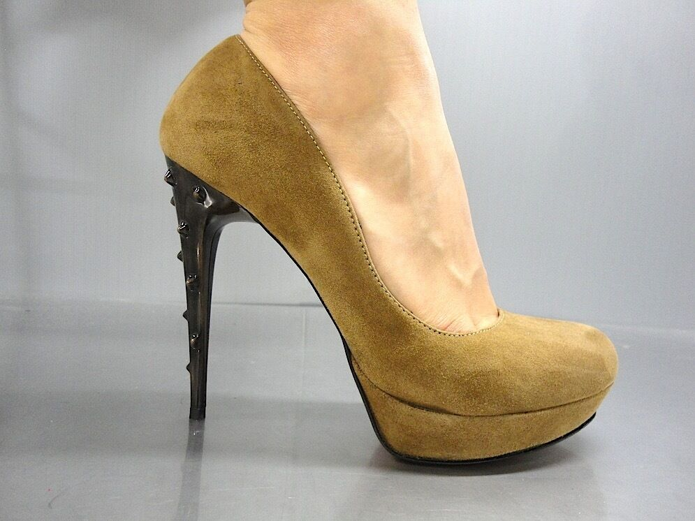 Descuento barato MORI ITALY PLATFORM HIGH HEEL PUMPS SCHUHE SHOES SUEDE LEATHER BROWN MARRONE 42