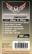 100 Card Sleeves Mayday ROMAN TRIBUNE 49x93 Bustine Protettive Giochi da Tavolo