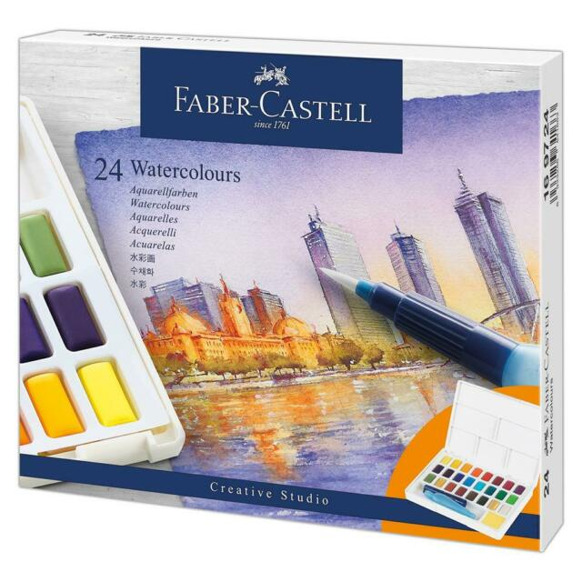 fabercastell  watercolours in pans 24ct set 169724 toy