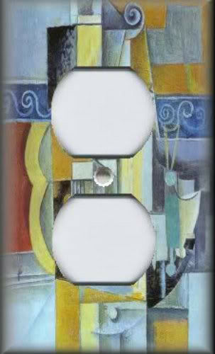 Metal Picasso Art Light Switch Plate Cover Guitars Picasso Abstract Art Decor