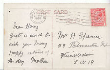 Genealogy Postcard - Family History - Spencer - Wimbledon - London S.W.19  U2031
