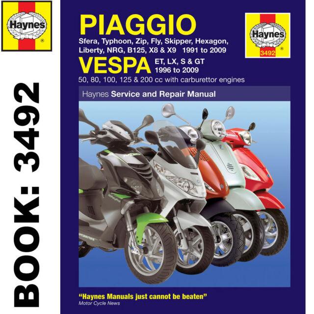 piaggio x9 125 2000 2003 haynes service repair manual 3492 ebay rh ebay co uk service manual piaggio x9 500 service manual piaggio x9 500