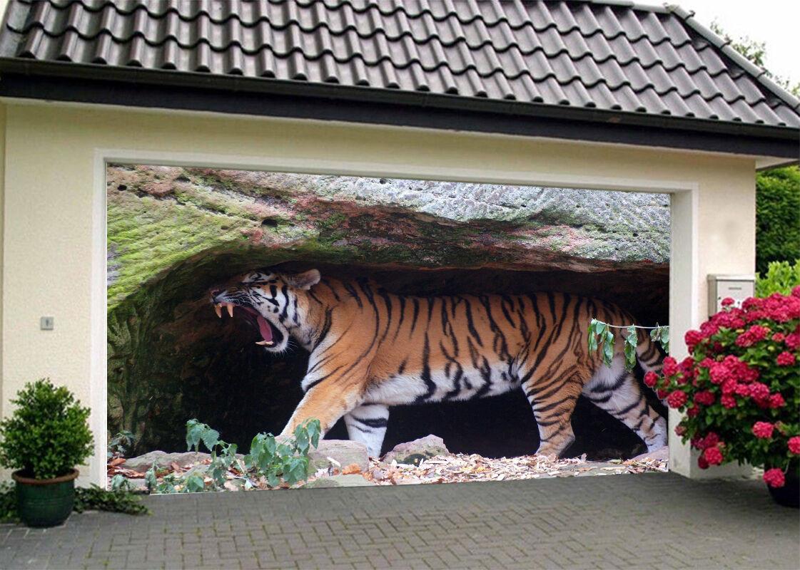 3D Tiger Animal Garage Door Murals Wall Print Decal Wall Deco AJ WALLPAPER IE