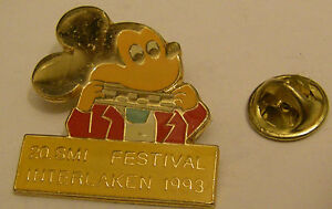 MICKEY-MOUSE-20th-Festival-Interlaken-1993-Disney-vintage-pin-badge