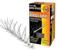 Bird-x Sts-10-r Stainless Bird Spikes 10 Foot Kit , New, Free Shipping on sale