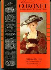 Coronet Magazine February 1938 Le Chapeau de Poil Rubens VG/EX 121815jhe2