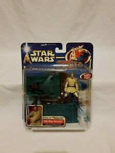 Star-Wars-AOTC-Obi-Wan-Kenobi-Figure-Force-Flipping-Attack-Hasbro-2001-Aus