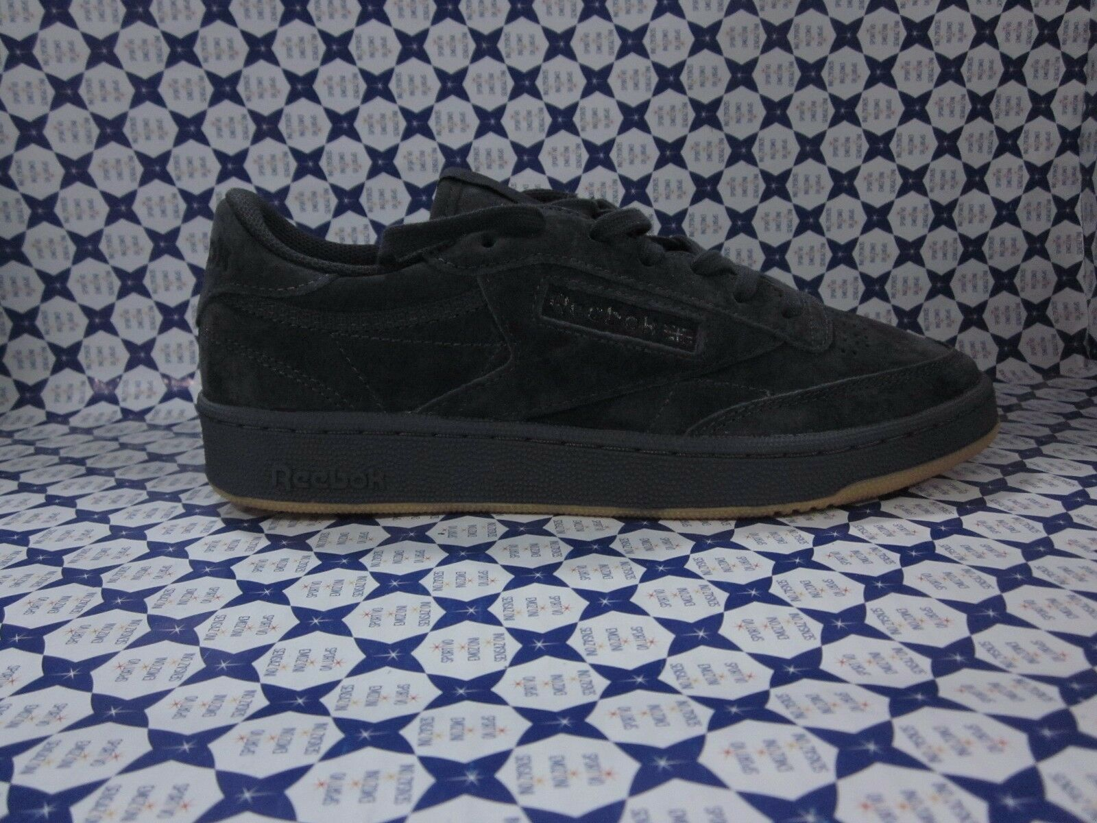 shoes Reebok Club C85 Nubuck Gym Vintage Man Navy bluee BD1885