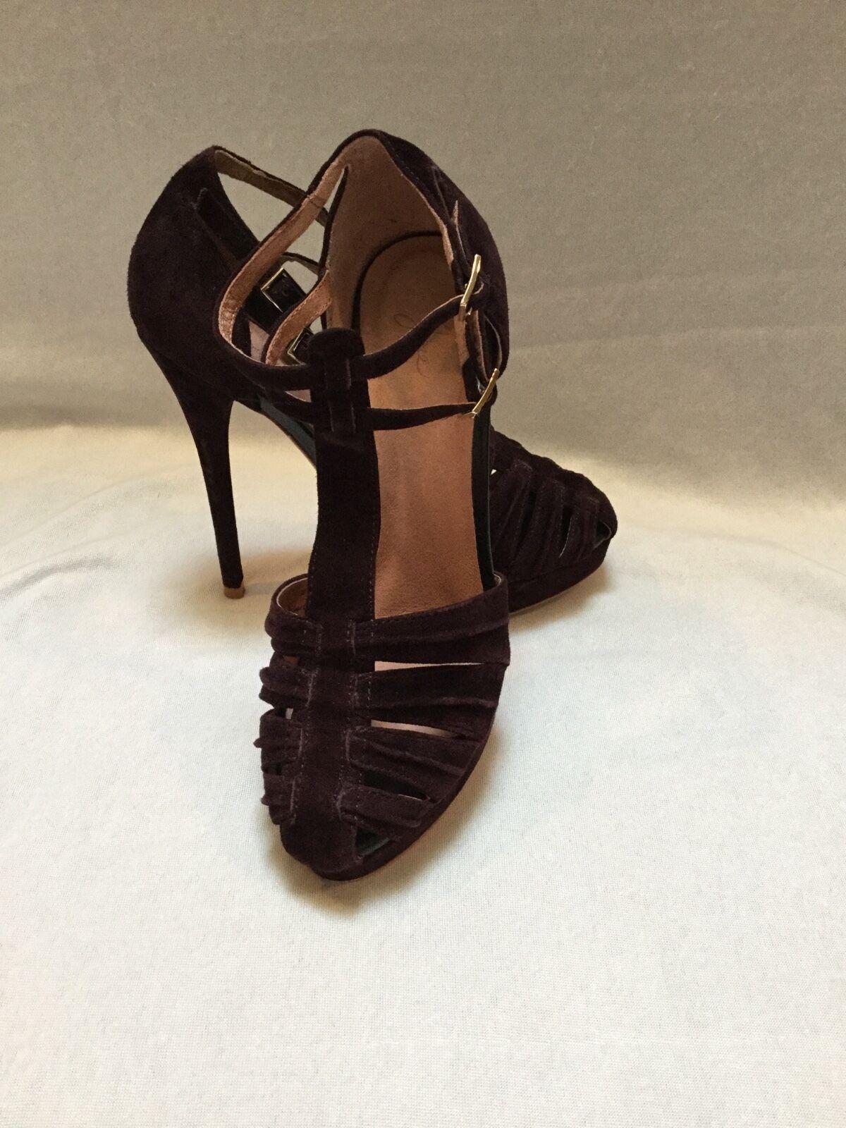 Joie - Women's Rexanne  Brown Suede Platform Sandal Heels - Size 6.5 Worn Twice