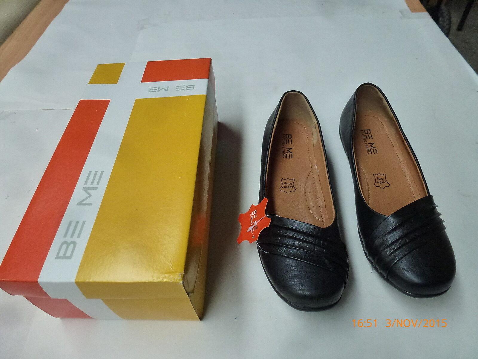 Se me Sasha W14 Negro arruga Sm S S S Mujer Cuero Zapato Suela De Goma Talla 6 37 Nuevo  compras de moda online
