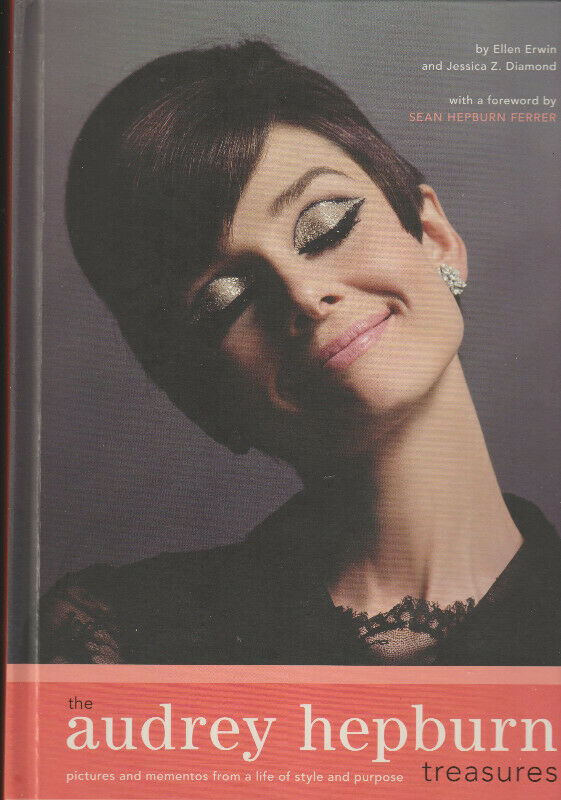 Large book on the life of Audrey Hepburn.