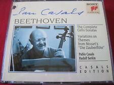 BEETHOVEN: CELLO SONATAS - CASALS / SERKIN - SONY CLASSICAL (2 CD 1993 USA)