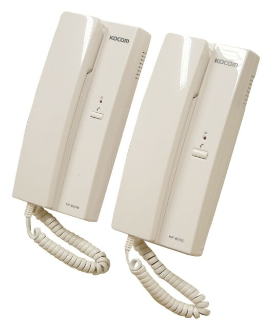 Mercury White 6 VDC 2 Way System Intercom Home Office Flat Security Wall or Desk