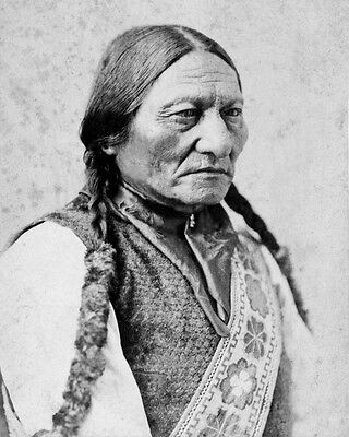 1885 Native American Indian CHIEF SITTING BULL Glossy 5x7 Photo Sioux Print