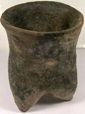 Neolithic China Xia Dynasty Handcrafted Clay Earthenware Tripod Vase Jar 2000BC