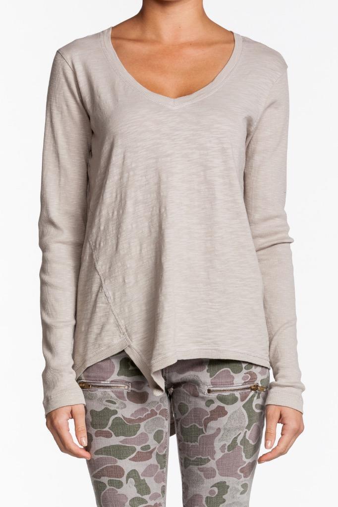 Wilt Slouch Slant Top PLASTER 31098 Long Sleeves Asymmetrical uneven Sweater NEW