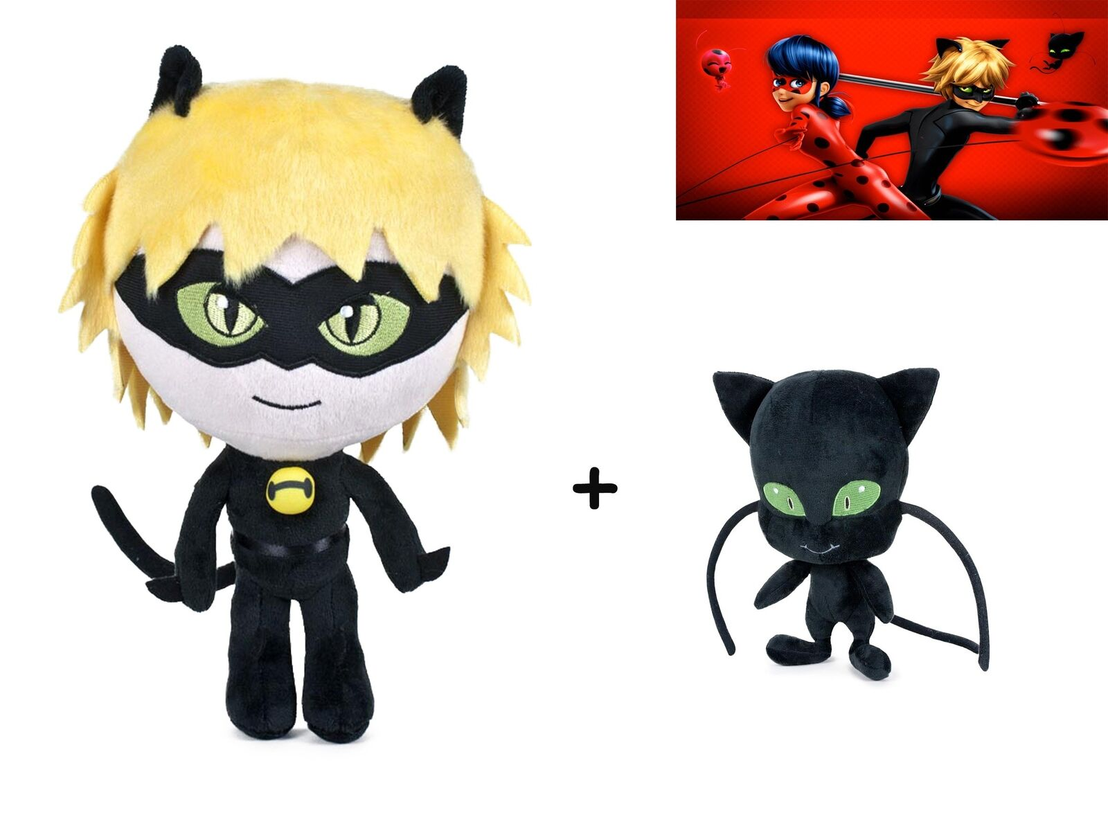 Miraculous: Tales of Ladybug: Plush Toy CAT NOIR 16