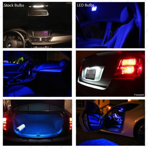 17x Blue Interior LED Lights Package Kit for 2008-2015 Audi A5 S5 B8 Error Free