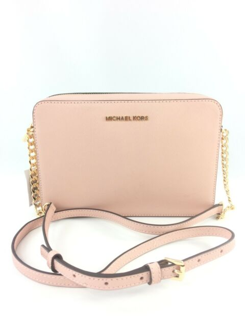 c5bf390ca613 New Authentic Michael Kors Jet Set Leather Large EW Crossbody/Shoulder Bag  Pink