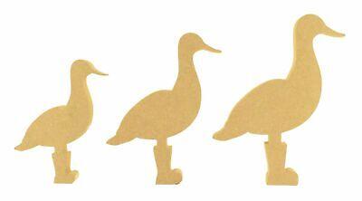 wooden craft blanks 18mm MDF freestanding shape Duck in Wellies