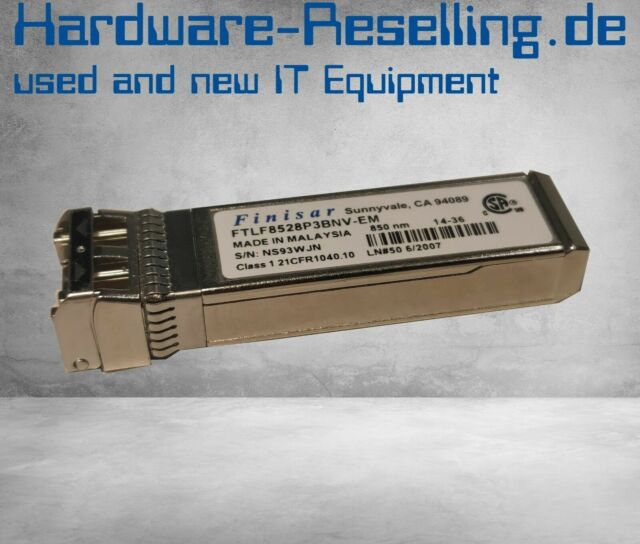 Finisar FTLF8528P3BNV-EM 8.5GB 850nm SFP+ Optical Transceiver Module Gbic