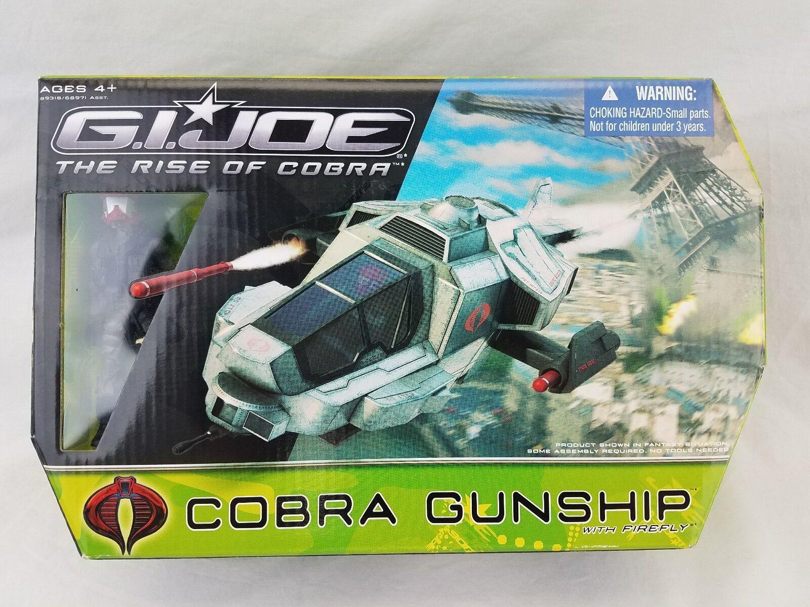 G.I. Joe The Rise of Cobra Movie Cobra Gunship with Firefly ROT Helmet 2009