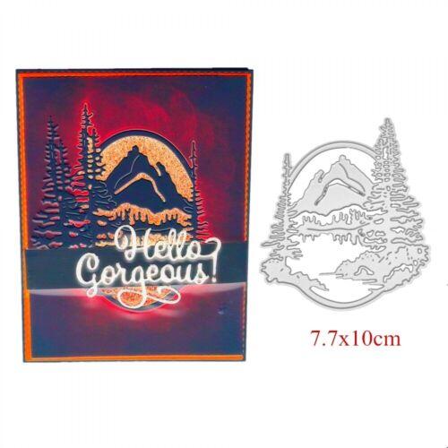 New 2019 Mountain Background Stencils Metal Cutting Dies Diy Scrapbooking Card