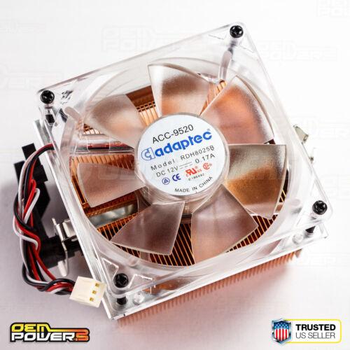 AMD Socket AM3//AM2+//AM2//939//940//754 Solid Copper Heat Sink Cooling Fan Adaptec