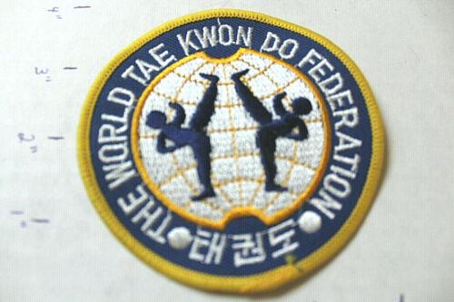 NEW ROUND WORLD TAE KWON DO FEDERATION UNIFORM PATCH Martial Arts MMA