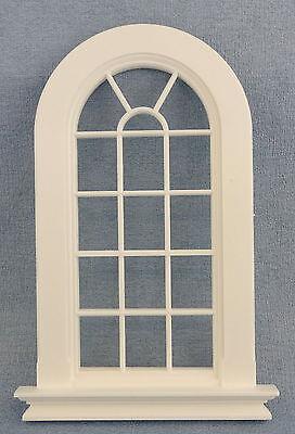 Apprensivo Casa Delle Bambole Plastica Bianco Georgiano Alto Ad Arco Finestra 16 Riquadro