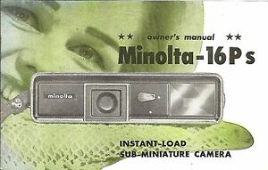 Minolta-16Ps-Genuine-Instruction-Book-User-Manual-Guide-Instructions-V-Clean