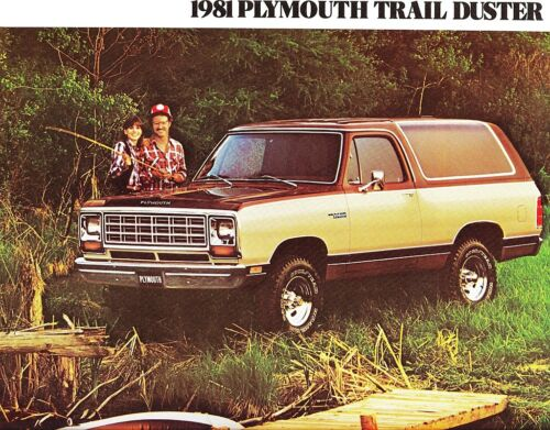 1981 Plymouth Trail Duster Large Dealer Sales Brochure