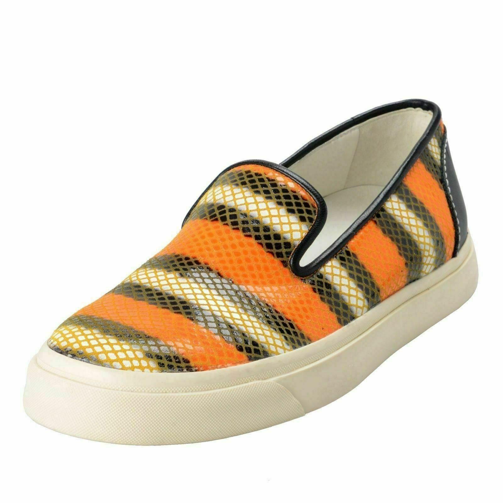 Giuseppe Zanotti Design Women's Snake Skin Slip On Loafers shoes US 6 IT 37