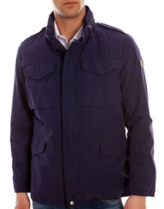 size 40 24ed8 18731 Details zu Jacke Herren Lange Ärmel Gant Blau Jacke Mann Lang Sleeves Blau  XL