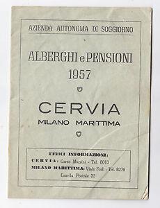 Dettagli su F858-CERVIA-RAVENNA-ALBERGHI E PENSIONI 1957