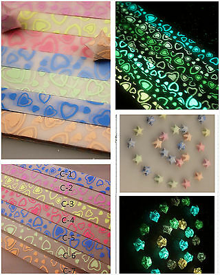 Glow in the Dark I Love You Origami Lucky Star Paper Strips Choose Your Own Color