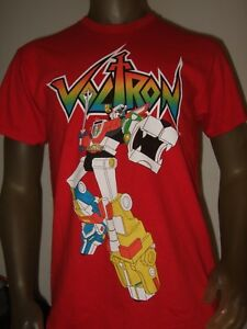c26416a81 New Men's Sm Red Voltron Defender Of The Universe Lions Cartoon ...