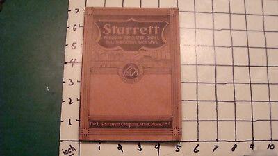 Tools, Hardware & Locks 1938 Original Starrett Precision Tools Steel Tapes Hack Saws Catalog 282pgs Save 50-70%