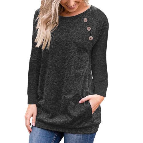 Damen Langarm Pullover Sweater Sweatshirts Top Herbst Jumper T-shirt Oberteil