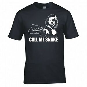 """INSPIRED BY ESCAPE FROM NEW YORK """"CALL ME SNAKE"""" T-SHIRT"""