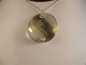 Sterling-Silver-Faceted-Silver-Shade-Twist-Swarovski-Element-Pendant-Necklace