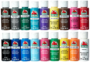Apple Barrel Acrylic Craft Paint Set 18 Piece 2 Ounce Water Based Non Toxic, New