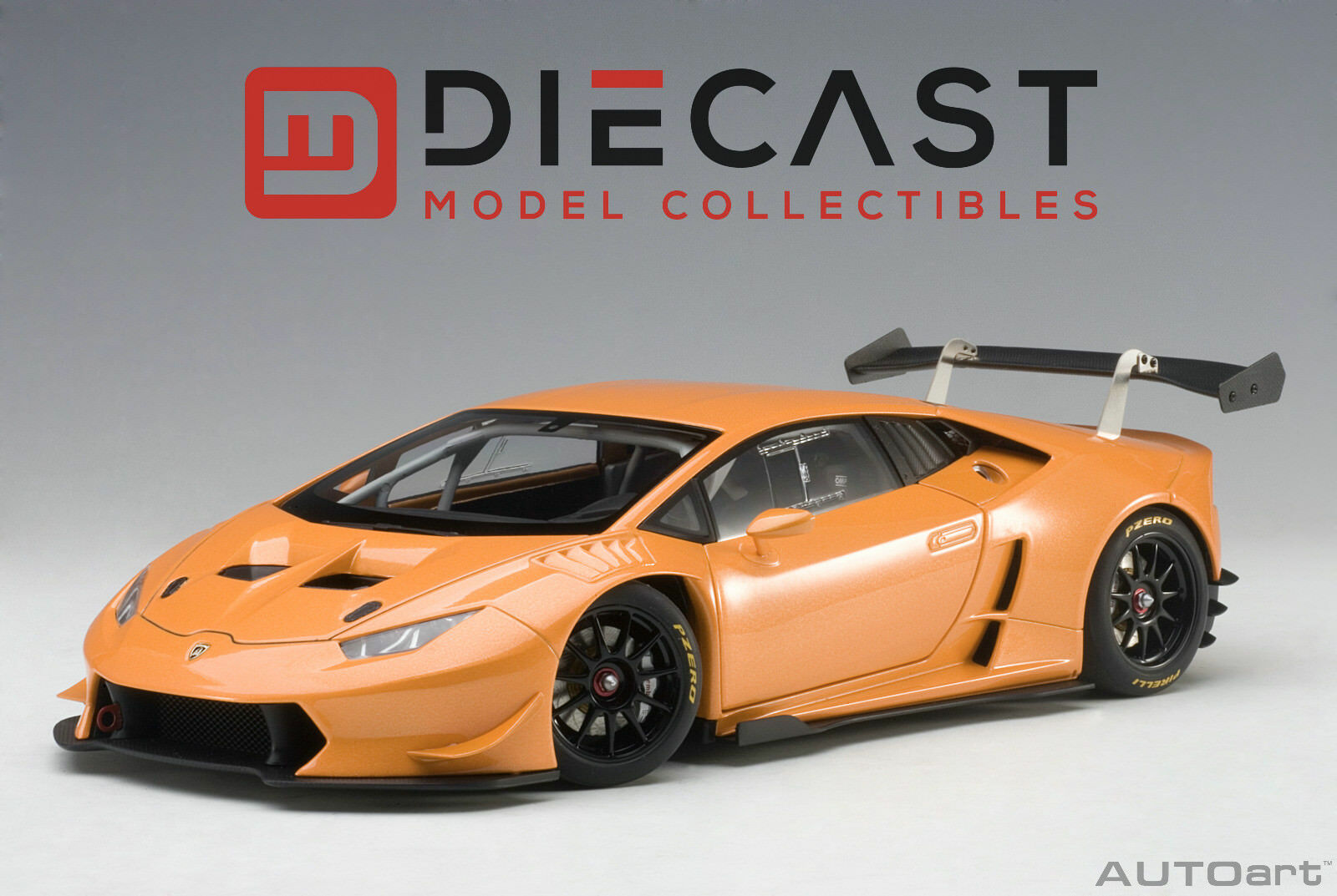 AUTOART 81558 LAMBORGHINI HURACAN SUPER TROFEO 2015 (orange PEARL) 1 18TH SCALE