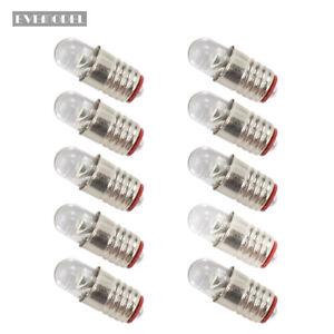10-pieces-Bright-White-LED-Screw-Bulb-E5-E5-5-12V-14V-E505W