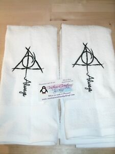 Details About Harry Potter Always Personalized Dish Kitchen Hand Towels Any Color