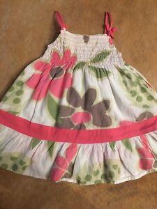 Mädchen Kleid Baumwolle Zuckersüss Trägerkleid Blumen 92 98 Neuwertig