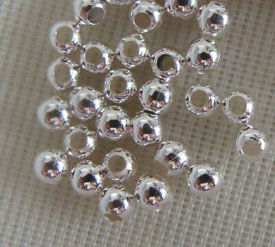 Pkg of 5000 2mm Sterling Silver Beads