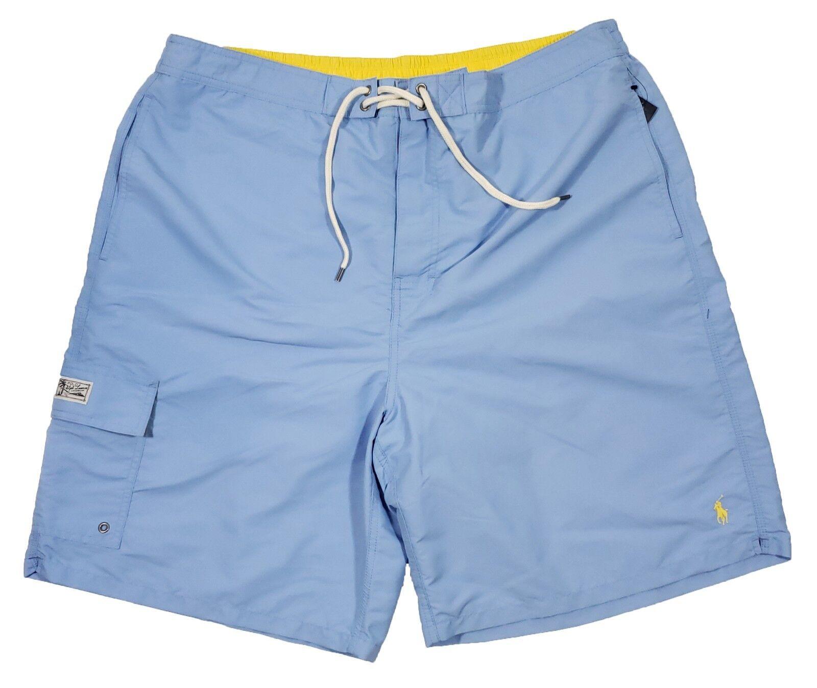 Polo Ralph Lauren Big & Tall Men's bluee Solid Swim Trunks