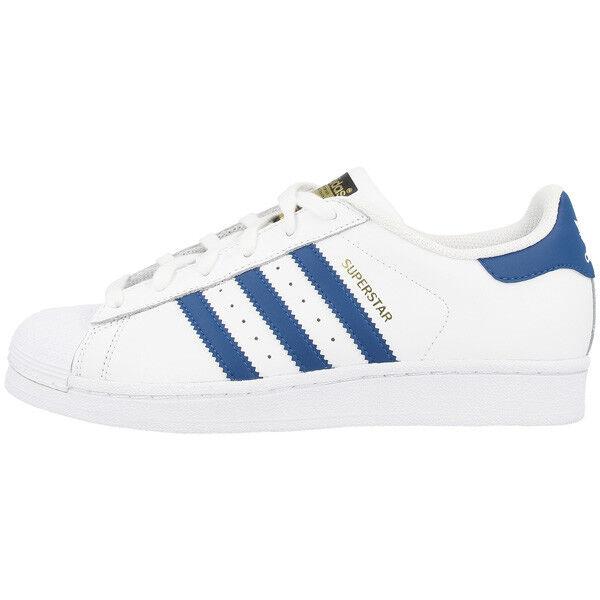 Adidas Superstar Foundation J Sneaker Schuhe white blue S74944 Retro Sneaker J Dragon 7e238e